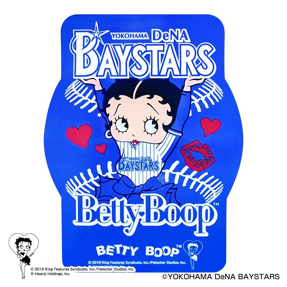 【BETTY BOOP×ベイスターズ】ステッカー  BB