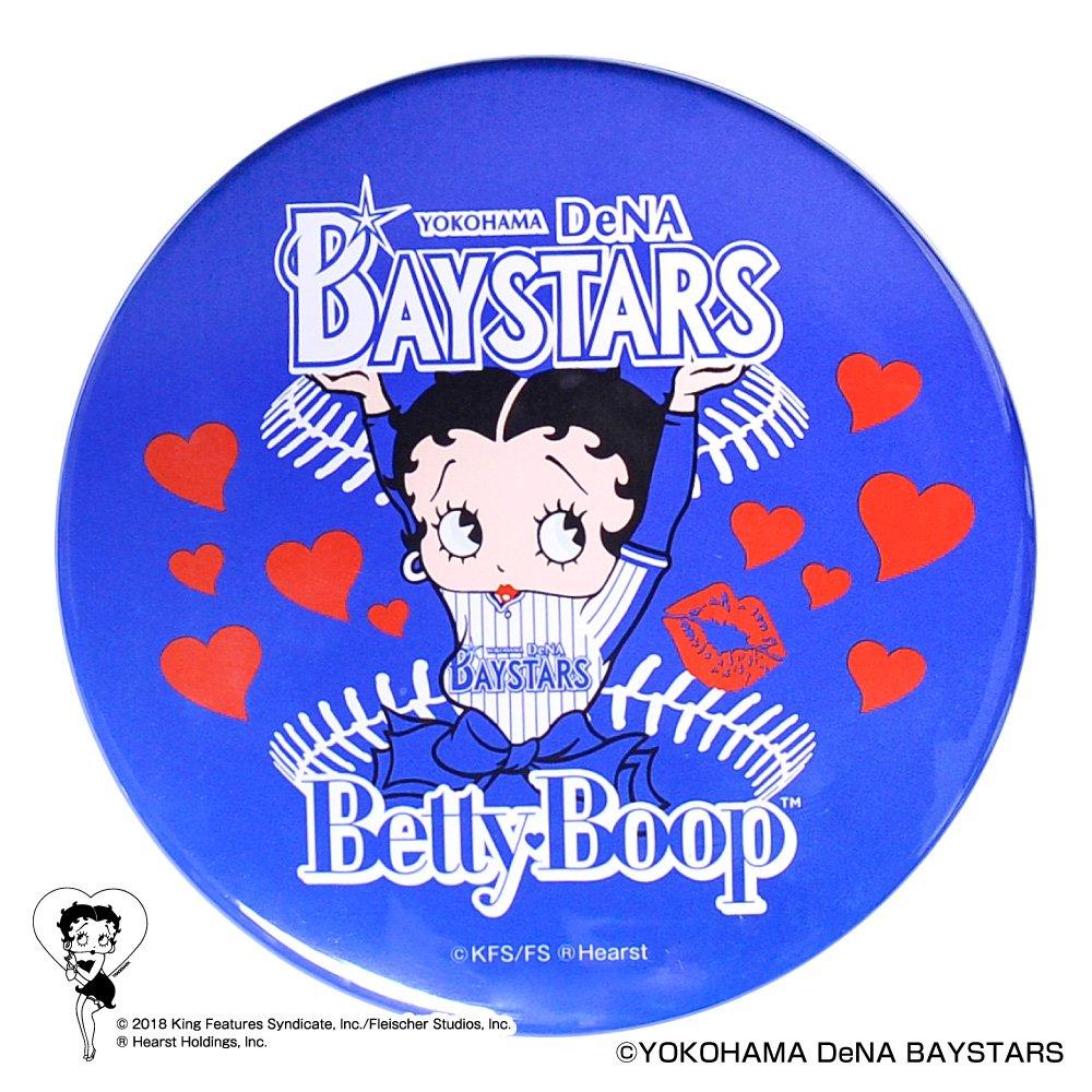 【BETTY BOOP×ベイスターズ】ドデカ缶バッジ  BB