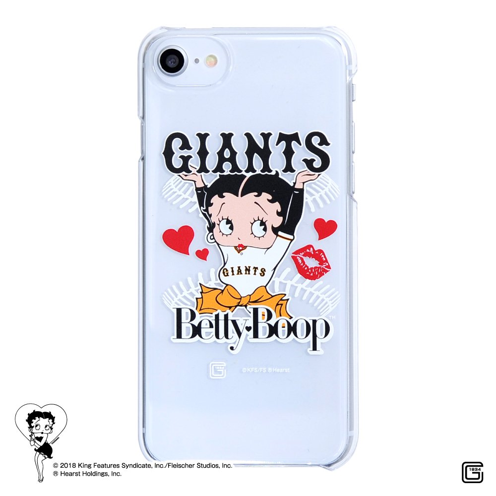 【生産終了品】【BETTY BOOP×ジャイアンツ】iPhone6/7/8対応クリアケース BB
