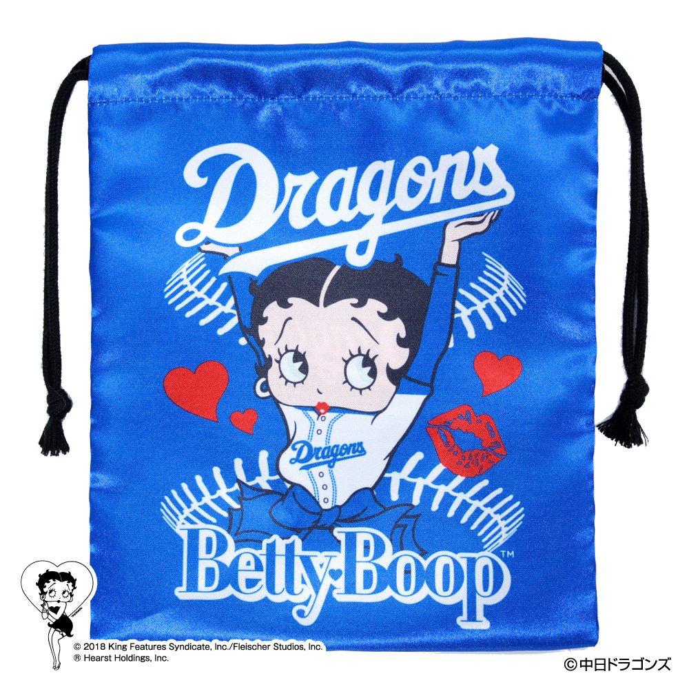 【BETTY BOOP×ドラゴンズ】巾着  BB