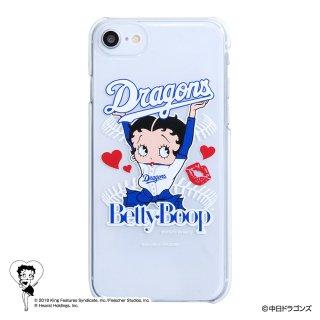 【生産終了品】【BETTY BOOP×ドラゴンズ】iPhoneクリアケース  BB