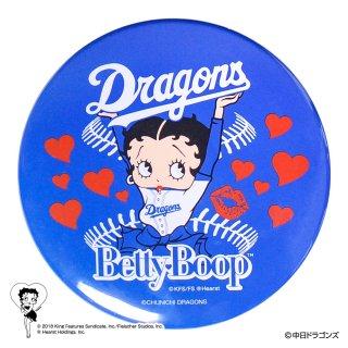 【生産終了品】【BETTY BOOP×ドラゴンズ】ドデカ缶バッジ BB