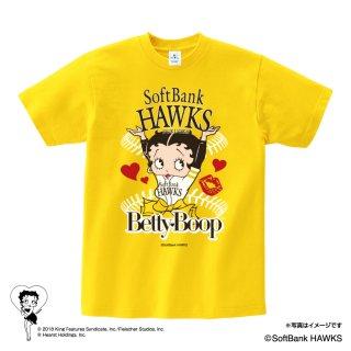 【BETTY BOOP×ホークス】Tシャツ(L)  BB