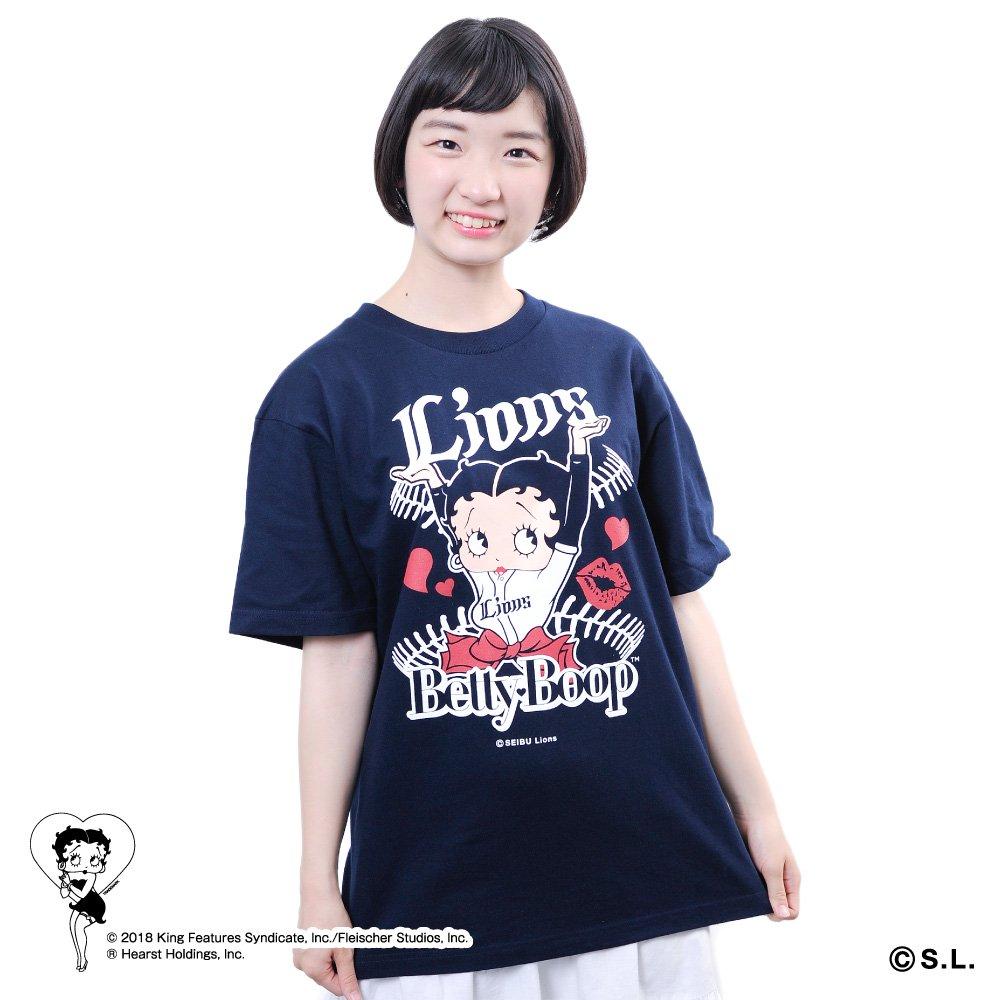 【BETTY BOOP×ライオンズ】Tシャツ(M)  BB