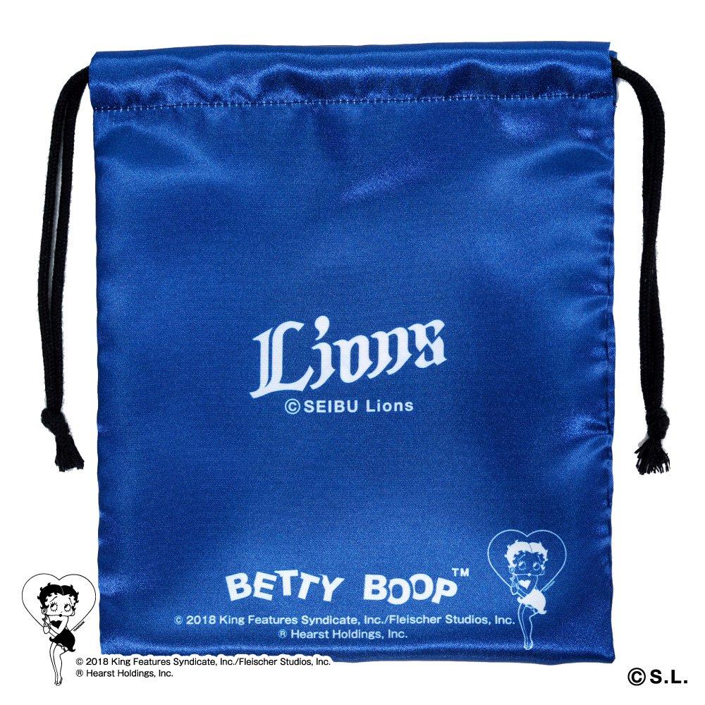 【BETTY BOOP×ライオンズ】巾着  BB