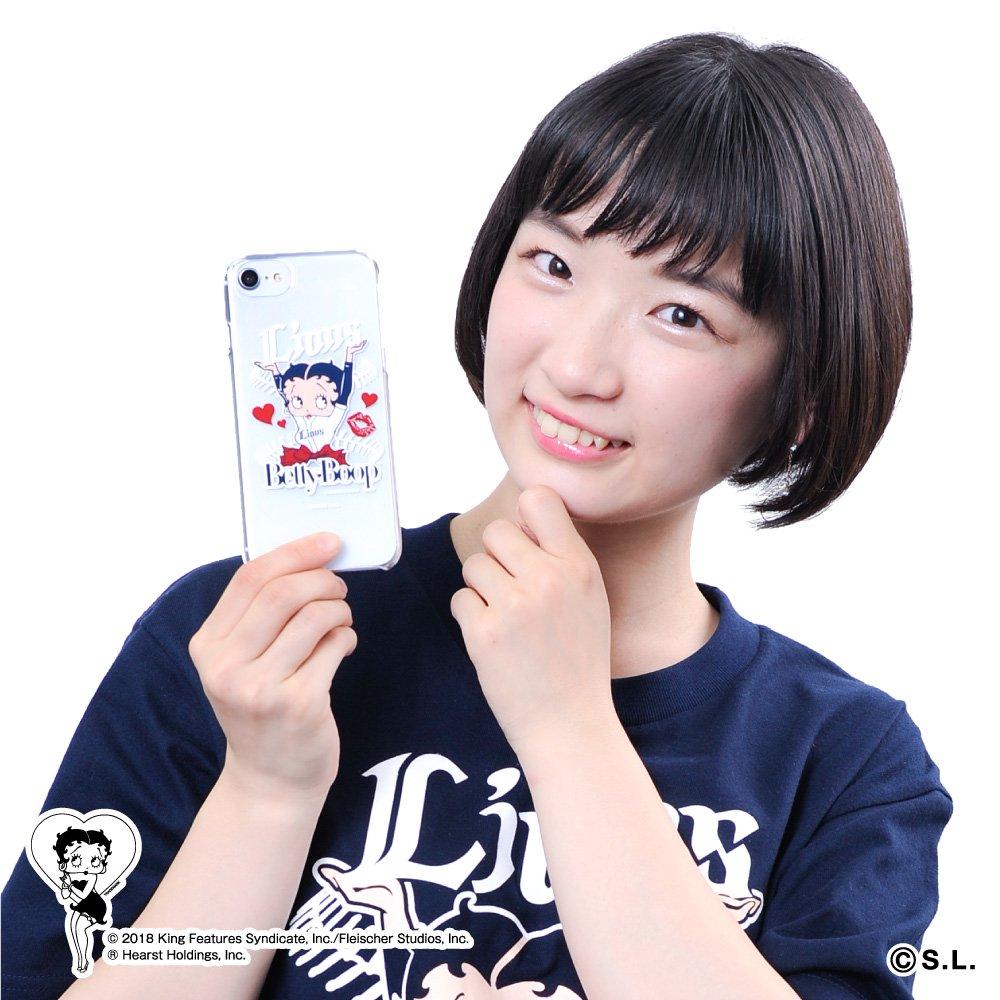 【BETTY BOOP×ライオンズ】iPhoneクリアケース  BB