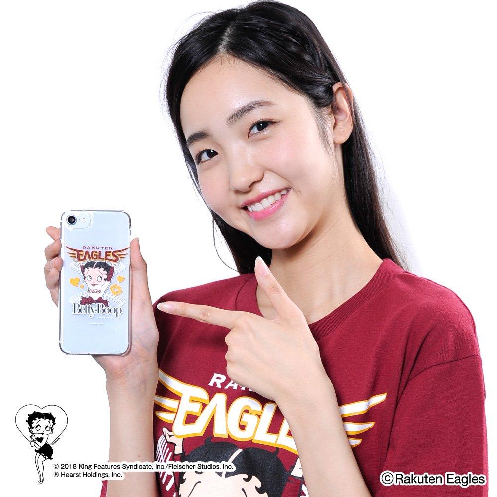 【生産終了品】【BETTY BOOP×イーグルス】iPhone6/7/8対応クリアケース BB