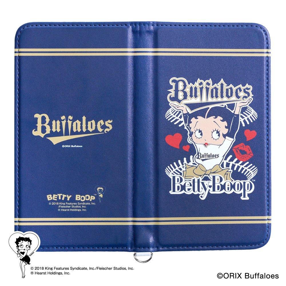 【生産終了品】【BETTY BOOP×バファローズ】マルチスマホフリップケース BB