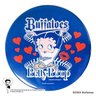 【生産終了品】【BETTY BOOP×バファローズ】ドデカ缶バッジ BB