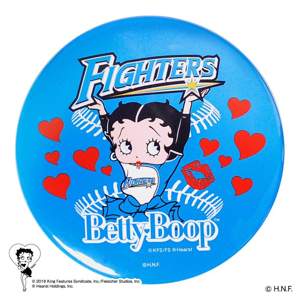 【BETTY BOOP×ファイターズ】ドデカ缶バッジ  BB