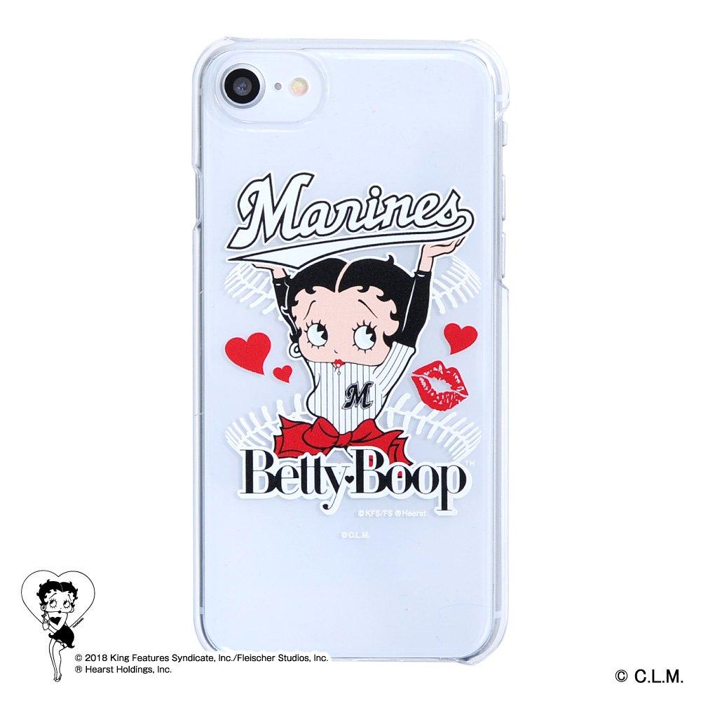 【生産終了品】【BETTY BOOP×マリーンズ】iPhone6/7/8対応クリアケース BB