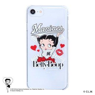 【生産終了品】【BETTY BOOP×マリーンズ】iPhoneクリアケース BB