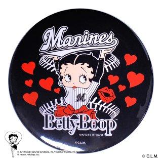 【生産終了品】【BETTY BOOP×マリーンズ】ドデカ缶バッジ BB