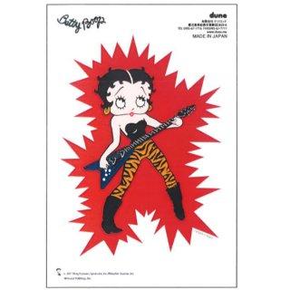 Betty Boop ステッカー(ギターエレクトリックV)  BB