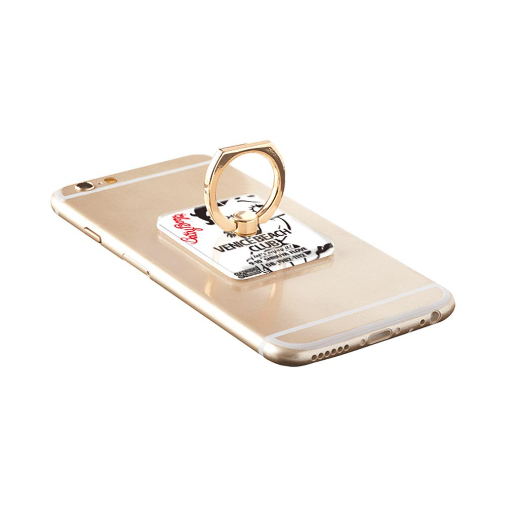 <img class='new_mark_img1' src='https://img.shop-pro.jp/img/new/icons11.gif' style='border:none;display:inline;margin:0px;padding:0px;width:auto;' />【FLOVE×Betty Boop×Gizmobies】スマートフォン専用リング(VENICE WHITE)OD-0321-RING BB