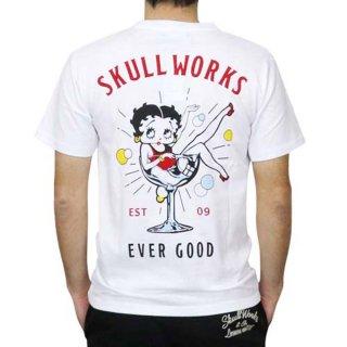 【SW×BETTY BOOP】Tシャツ(カクテルベティー)ホワイト L BTY-54 BB
