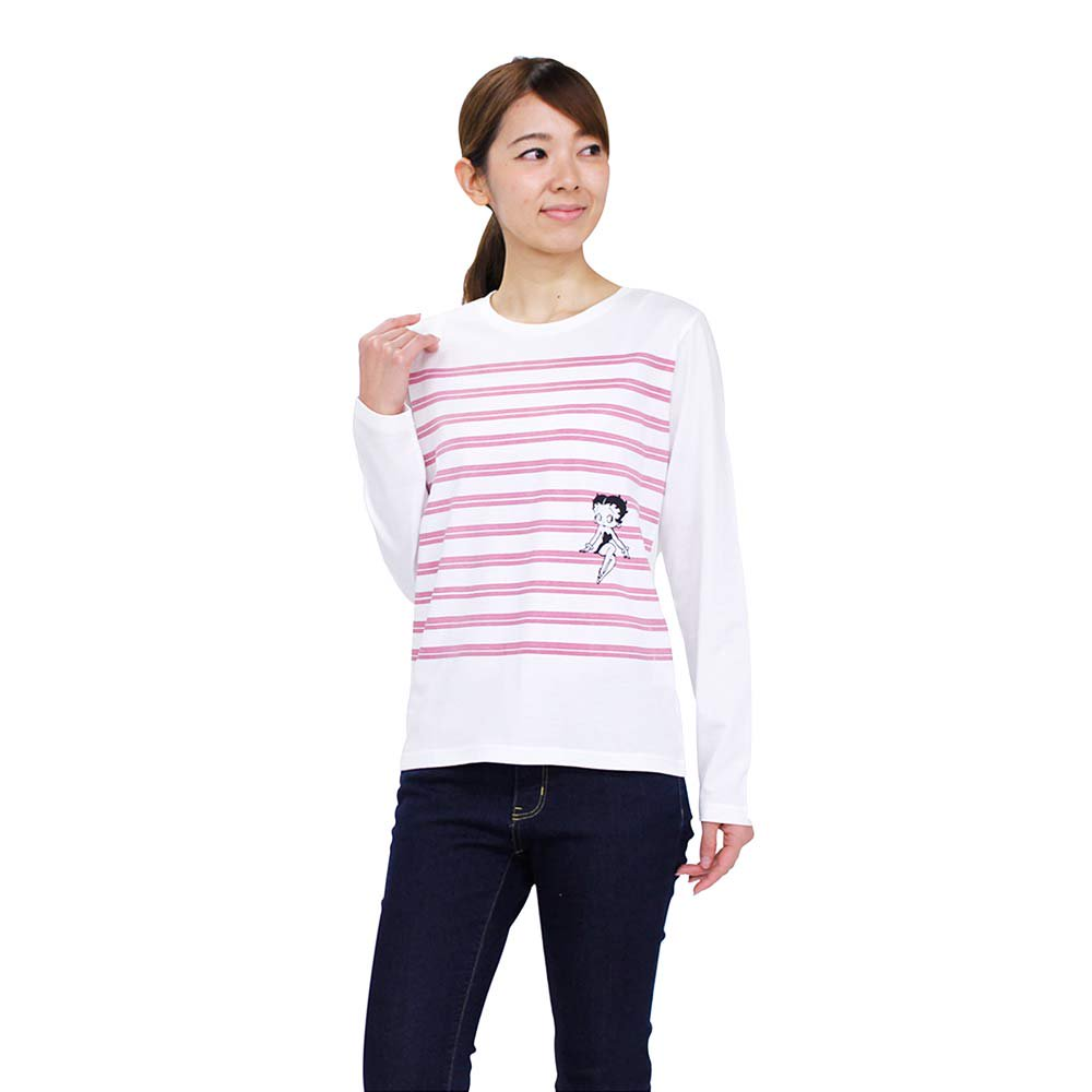 <img class='new_mark_img1' src='https://img.shop-pro.jp/img/new/icons11.gif' style='border:none;display:inline;margin:0px;padding:0px;width:auto;' />長袖ボーダーTシャツ(ホワイト)M 491753 BB