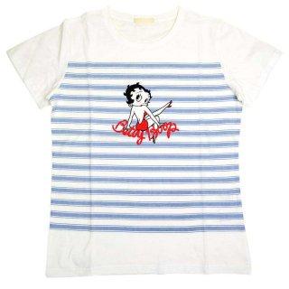 ボーダーTシャツ(ホワイト)L 492753 BB