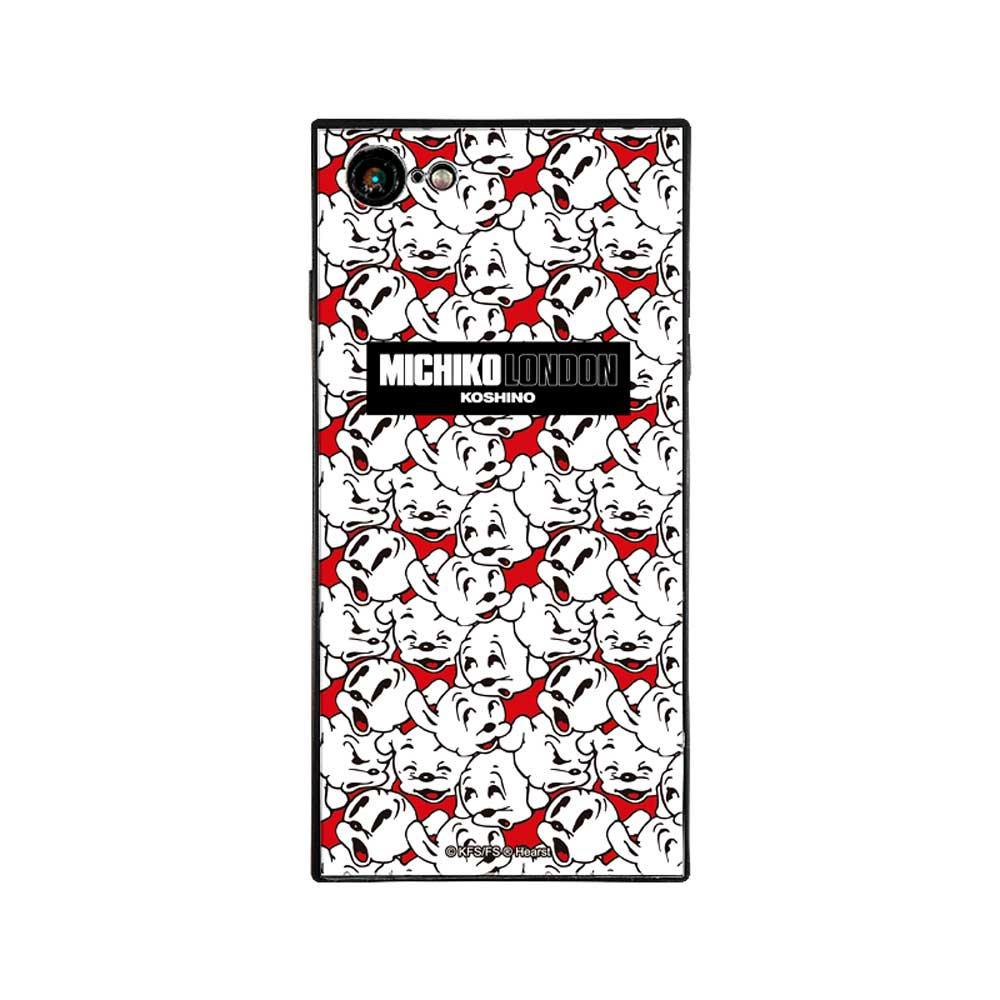 【MICHIKOLONDONコラボ】iPhone7/8対応ガラスケース(cutie pudgy)BJ-0011-IP78-WHIT BB