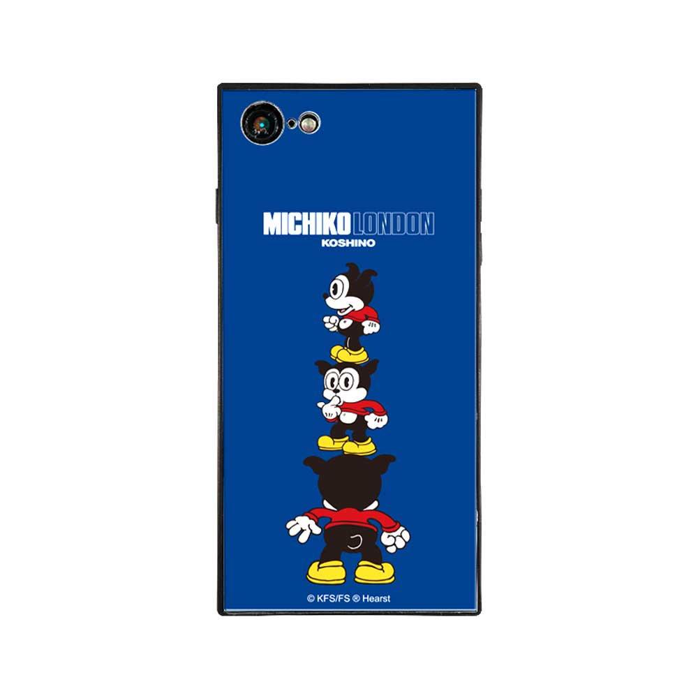 【MICHIKOLONDONコラボ】iPhone7/8対応ガラスケース(cutie BIMBO)BJ-0011-IP78-BLUE BB