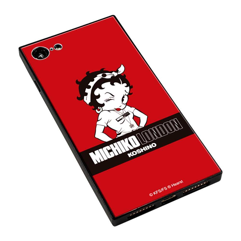 【MICHIKOLONDONコラボ】iPhone7/8対応ガラスケース(street style) BJ-0011-IP78-REDD BB