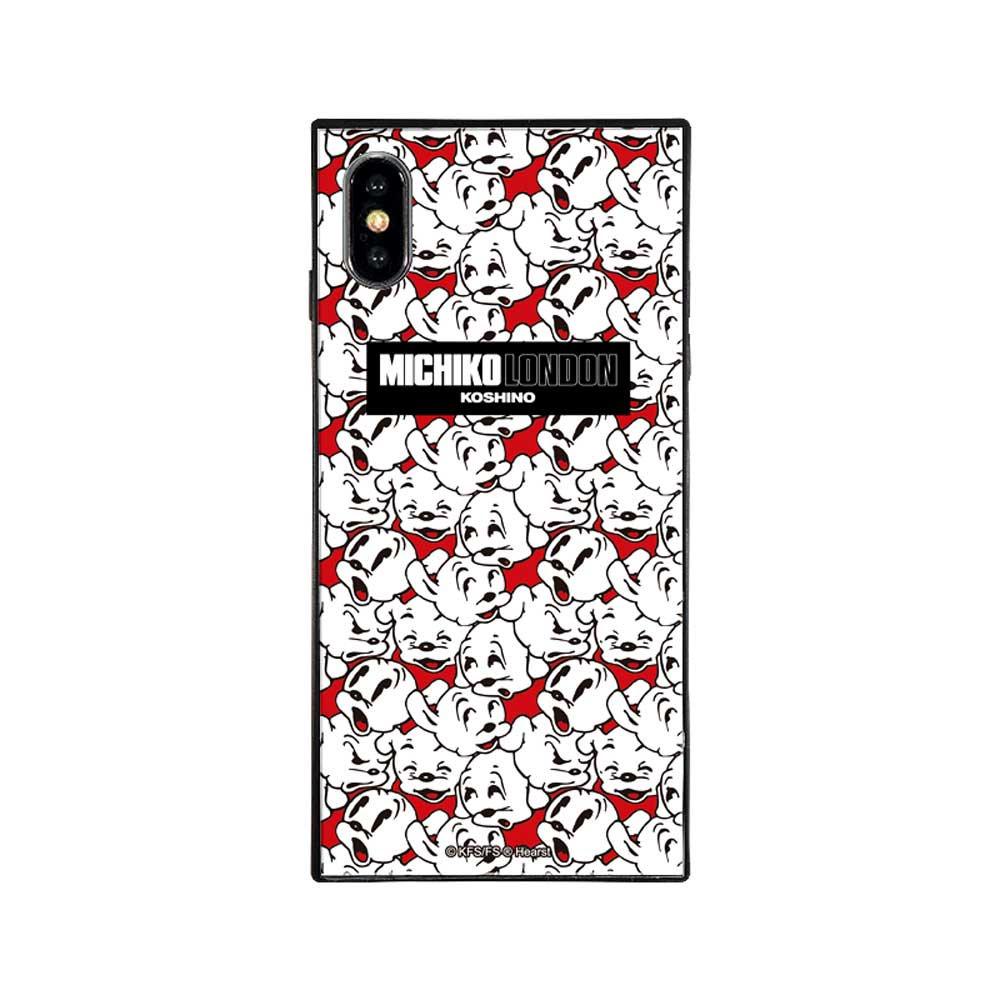 【MICHIKOLONDONコラボ】iPhoneX/XS対応ガラスケース(cutie pudgy)BJ-0011-IP0X-WHIT BB