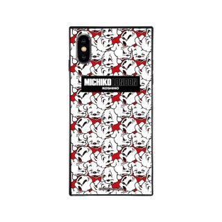 【MICHIKOLONDONコラボ】iPhoneX/XS対応ガラスケース(cutie pudgy)BJ-0011-IP0X-WHIT BB