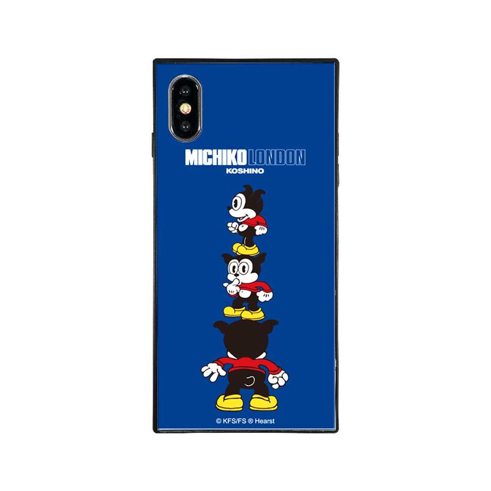 【MICHIKOLONDONコラボ】iPhoneX/XS対応ガラスケース(cutie BIMBO)BJ-0011-IP0X-BLUE BB