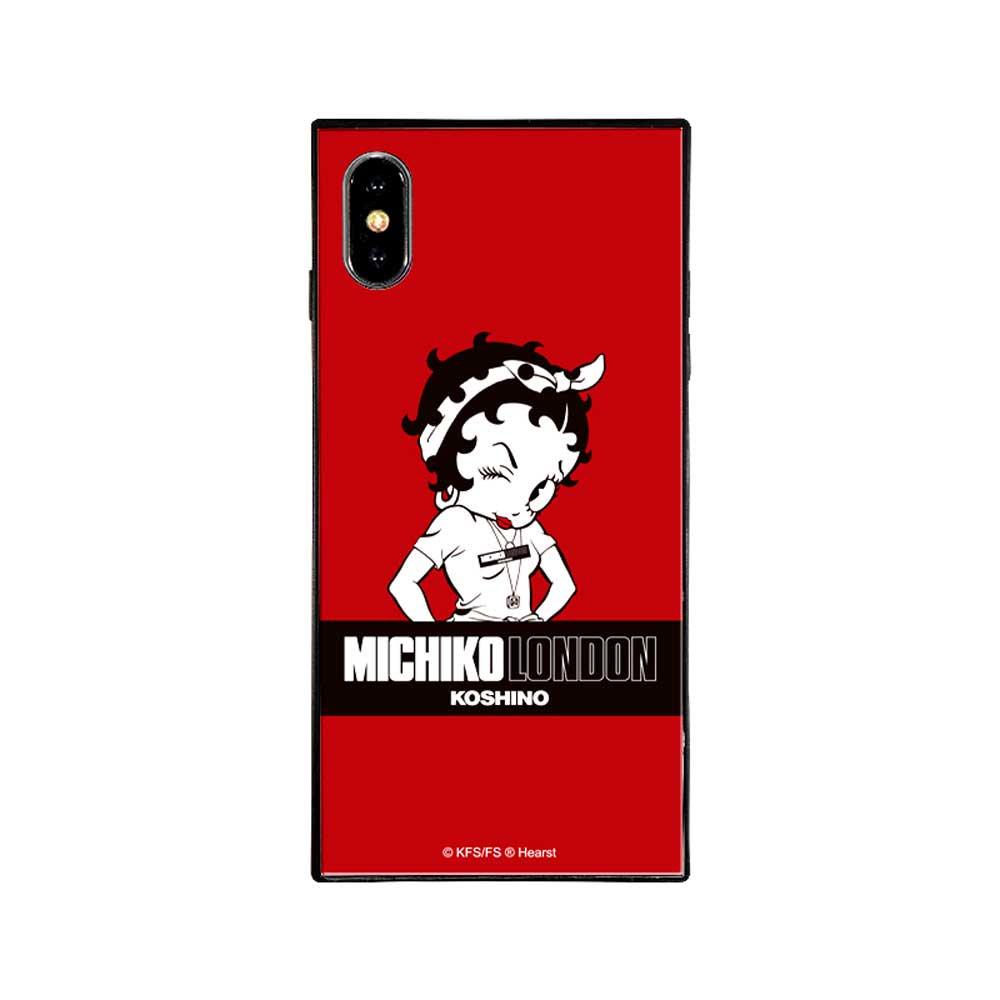 【MICHIKOLONDONコラボ】iPhoneX/XS対応ガラスケース(street style)BJ-0011-IP0X-REDD BB