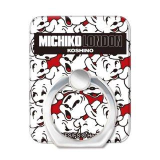 【MICHIKOLONDONコラボ】スマホリング(cutie pudgy)OD-0569-RING-WHIT BB