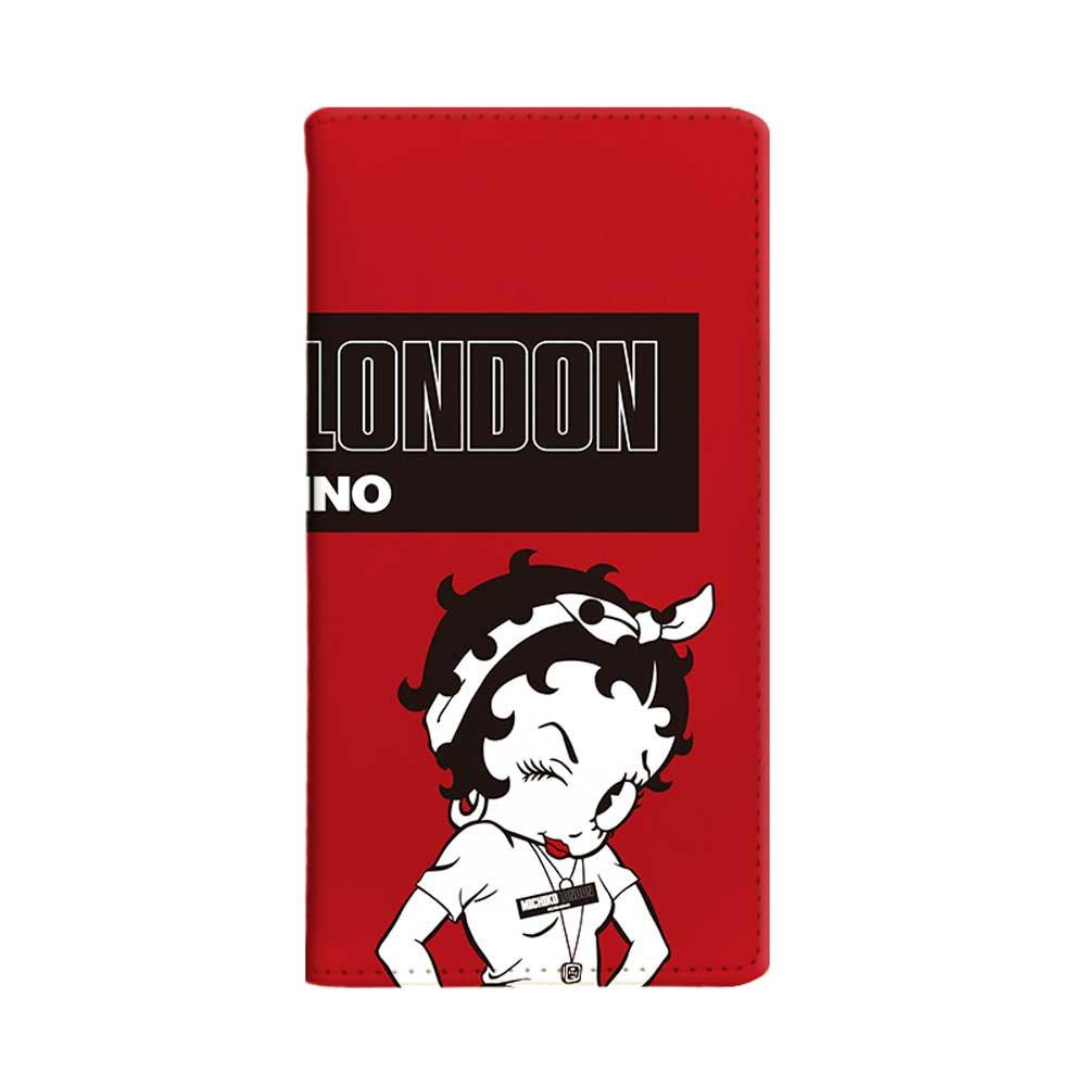 【MICHIKOLONDONコラボ】iPhone6/6s/7/8対応手帳ケース(street style) OD-0570-IP67-REDD BB