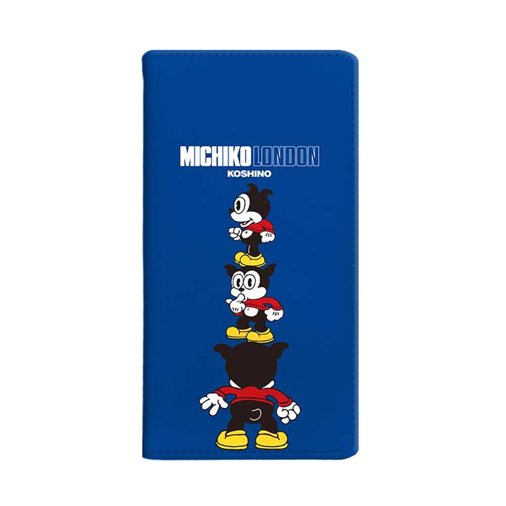 【MICHIKOLONDONコラボ】マルチ対応手帳ケース(cutie BIMBO) OD-0570-MLTI-BLUE BB