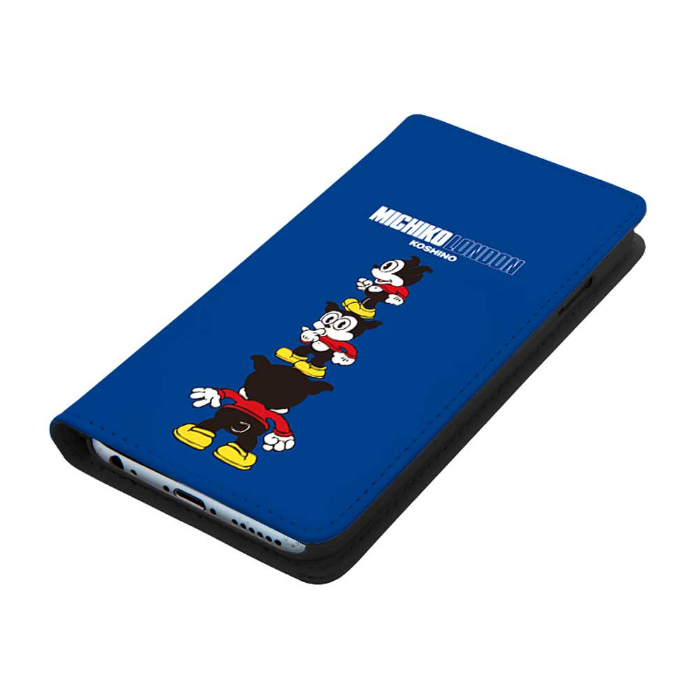 【MICHIKOLONDONコラボ】iPhoneX/XS対応手帳ケース(cutie BIMBO) OD-0570-IP0X-BLUE BB