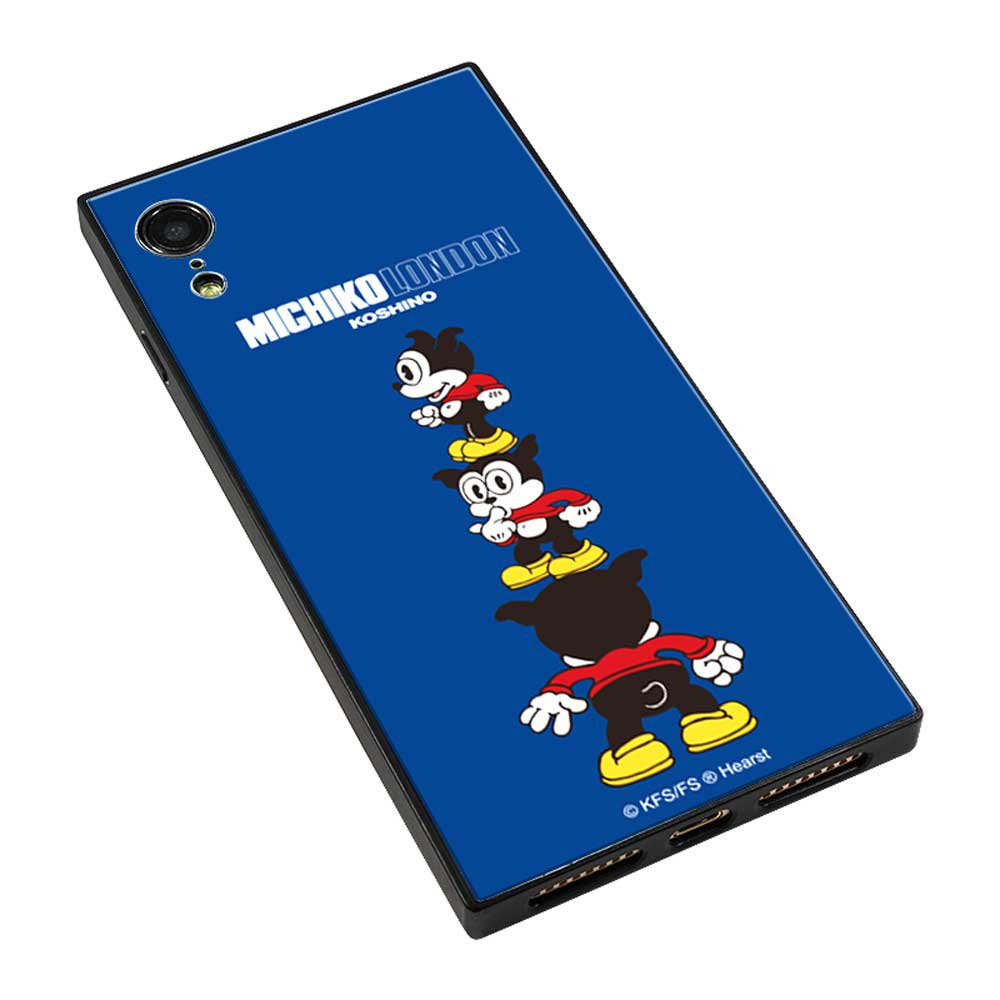 【MICHIKOLONDONコラボ】iPhoneXR対応手帳ケース(cutie BIMBO) OD-0570-IPXR-BLUE BB