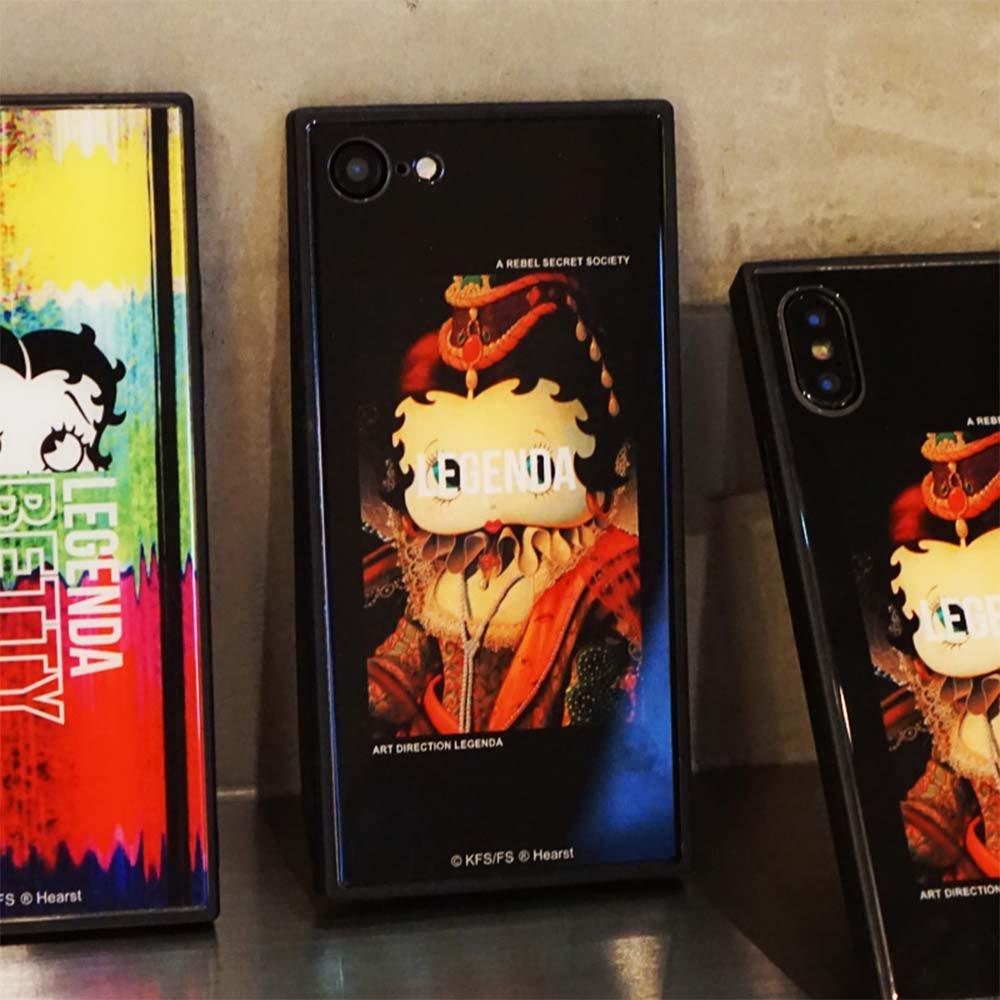 【LEGENDAコラボ】iPhone6/6s/7/8対応背面ケース(Lady Betty of Boop)BJ-0009-IP78-BLAK BB