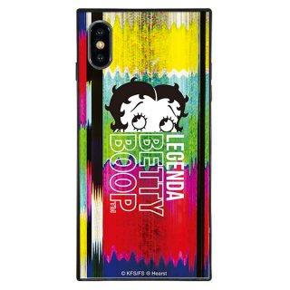 【LEGENDAコラボ】iPhoneX/XS対応ガラスケース(Glitch)BJ-0009-IP0X-MLTI BB