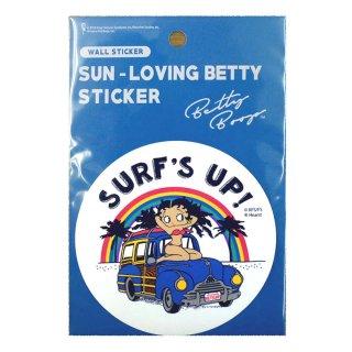 SUN-LOVING ベティーステッカー(SURF'S UP)SLBT01 BB