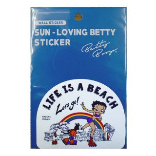 SUN-LOVING ベティーステッカー(LIFE IS A BEACH)SLBT02 BB