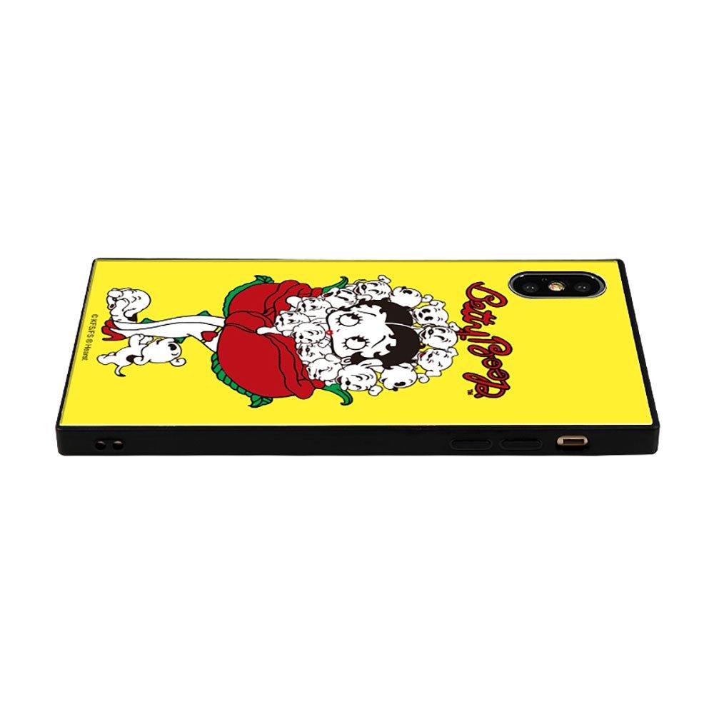 【masami yanagidaコラボ】IPhoneX/XS対応 ガラスケース(薔薇リズムに吐息が漏れる魅惑のベティー)BJ-0025-IP0X-YELL BB
