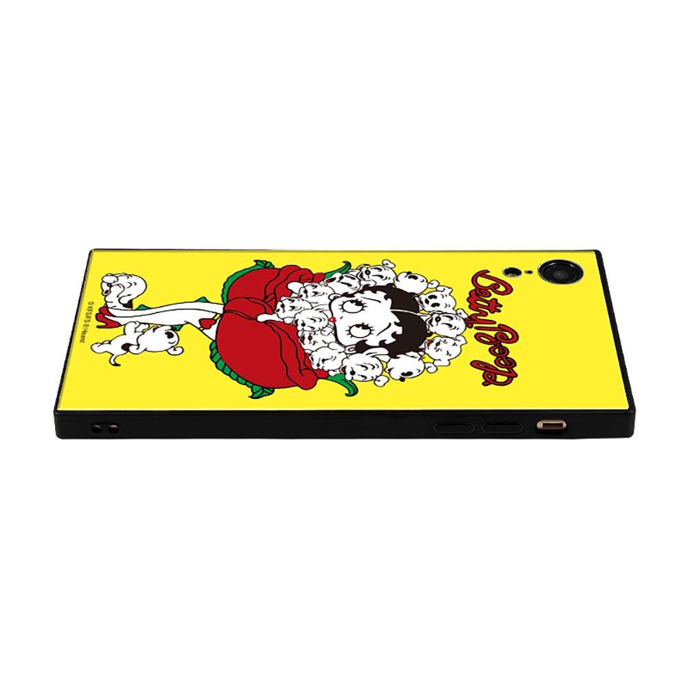 【masami yanagidaコラボ】IPhoneXR対応 ガラスケース(薔薇リズムに吐息が漏れる魅惑のベティー)BJ-0025-IPXR-YELL BB