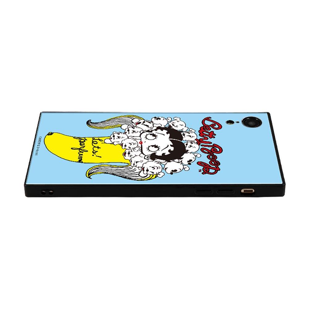 【masami yanagidaコラボ】IPhoneXR対応 ガラスケース(パヒューム日和に囁く気まぐれベティー)BJ-0025-IPXR-BLUE BB