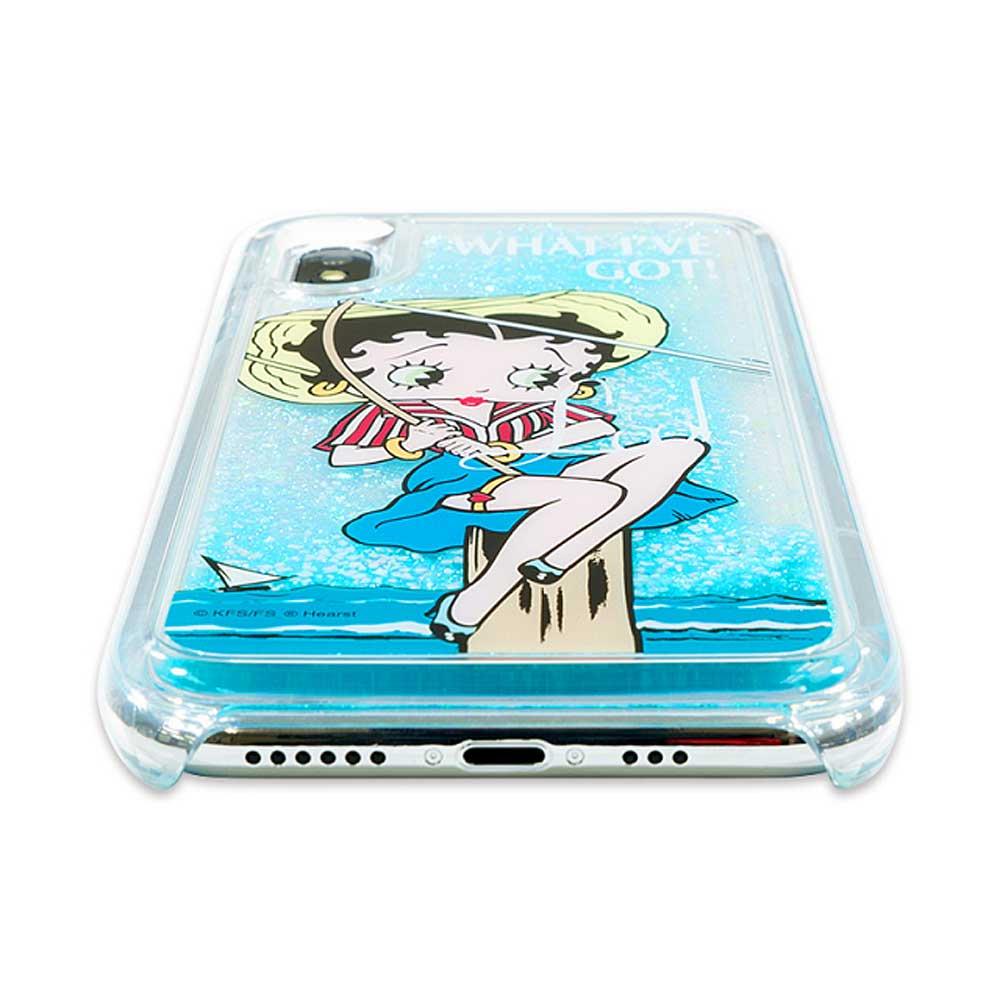 iPhoneXS/X対応 グリッターケース(Sea) BL-0002-IP0X-ICBL BB