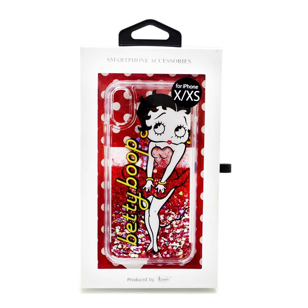 iPhoneXS/X対応 グリッターケース(Red Dress) BL-0002-IP0X-REDD BB