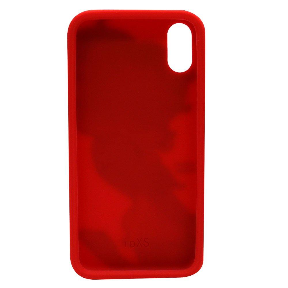 iPhoneX/XS対応 シリコンジャケット(BT-RED)BB