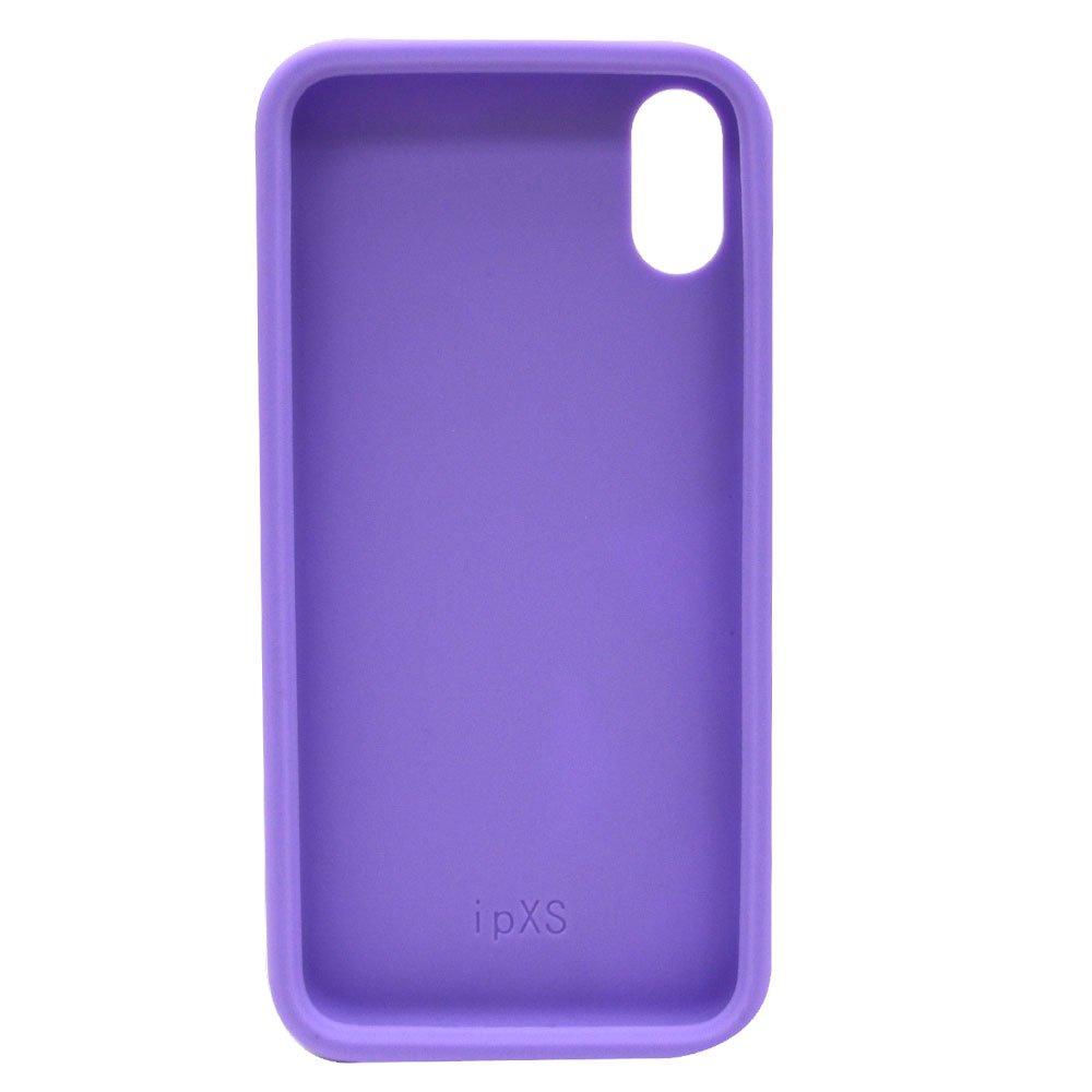 iPhoneX/XS対応 シリコンジャケット(BT-PURPLE)BB