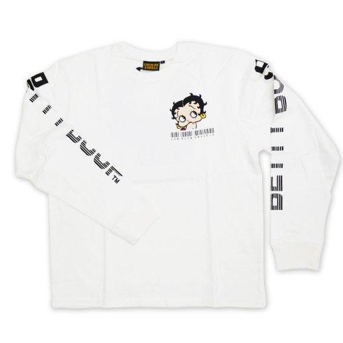 【生産終了品】ロンTee (バーコードBETTY) ホワイト L 530867 BB