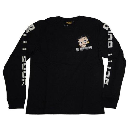 ロンTee (バーコードBETTY) ブラック XL 530867 BB