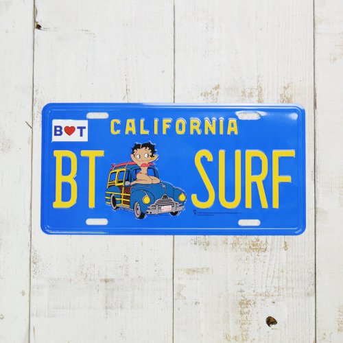 CM-PLATE/BETYY LICENSE PLATE BT-SURF BB