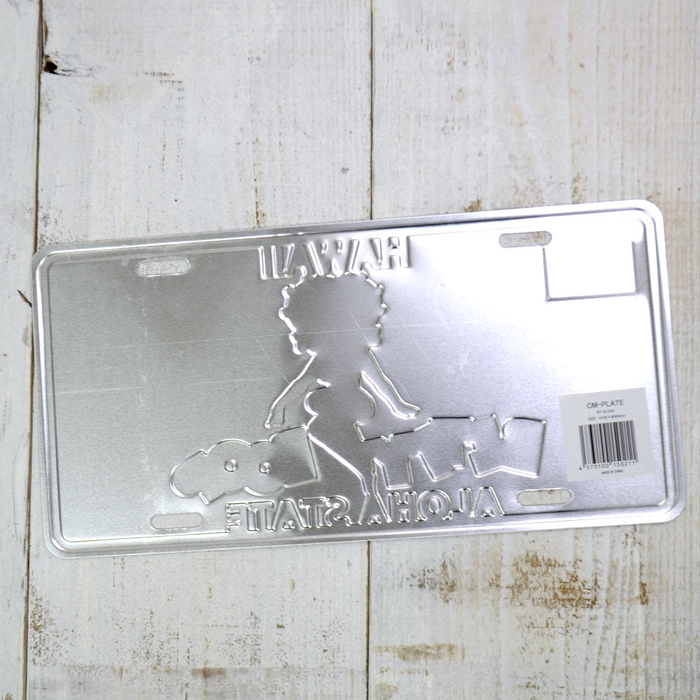 <img class='new_mark_img1' src='https://img.shop-pro.jp/img/new/icons11.gif' style='border:none;display:inline;margin:0px;padding:0px;width:auto;' />CM-PLATE/BETYY LICENSE PLATE BT-ALOHA BB
