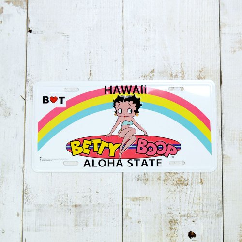 CM-PLATE/BETYY LICENSE PLATE BT-ALOHA BB